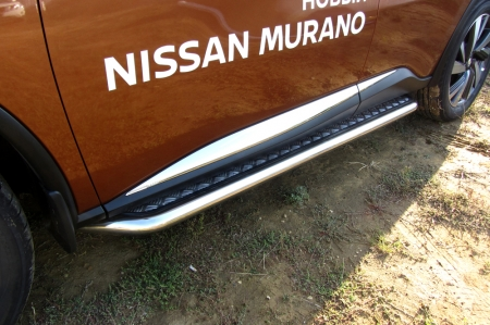 Nissan MURANO 2016 - Защита порогов d57 с листом усиленная